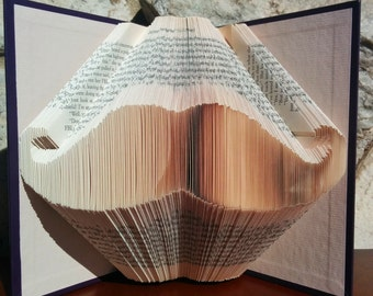 Moustache - Folded Book Art -Fully Customizable, mustache, hipster