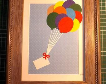 Letter to Heaven papercut - FRAMED piece