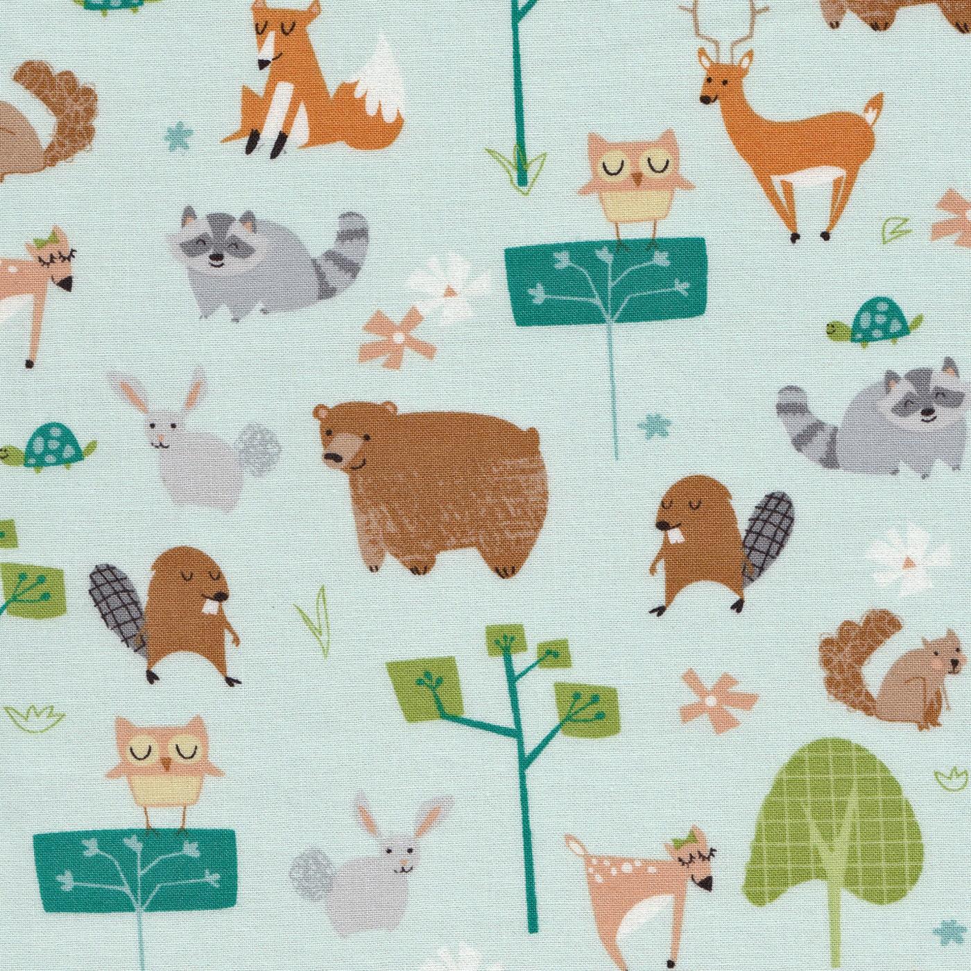 Woodland Animal Fabric By Wilmington Prints