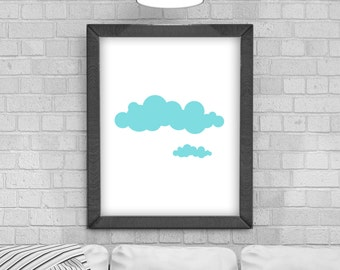 Digital Download 'Cloud' Poster, Printable Art, Instant Download, Wall Prints, Digital Art, Scandinavian print, pattern