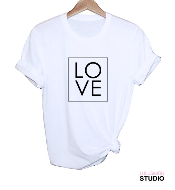 Love black and white everyday shirt