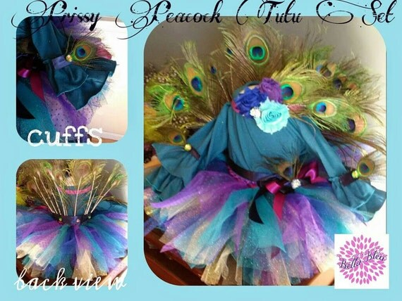 """Over the Top """"Prissy Peacock tutu"""" Set"""