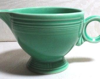 Fiesta, Fiesta Ware, Art Pottery, Small Pitcher, Creamer, Fiesta Green, Ring Handle, Art Deco, Fredrick Hurten Rhead, Dinnerware,