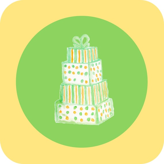Yellow Cake Clip Art : Wedding Cake Clip Art Green Cake Yellow Cake by ...