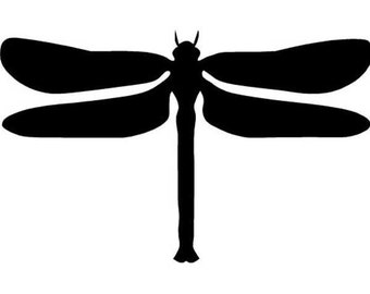 "Insect Dragonfly - Vinyl Decal Sticker - 6"" x 3.75"" - 24 Colors - [#0238]"