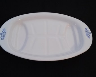 Corning Ware Cornflower Oval Platter
