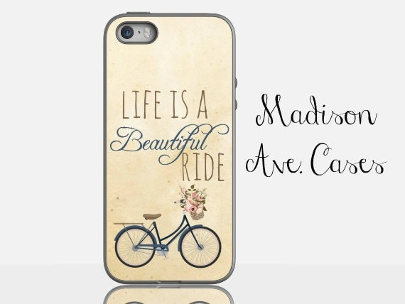Life Is A Beautiful Ride Vintage Bike Quote By MadisonAveCases