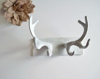 Faux Antler Wall Decor, Cast Iron, Faux Antlers, Deer Antler Hook, Jewelry Display, Jewelry Organizer, Woodland Decor
