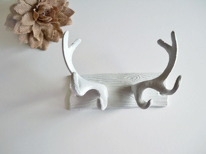 Faux antler wall decor cast iron faux antlers deer antler for Antler wall decor