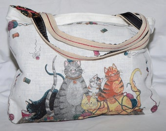 Cats in the Sewing Basket Calendar Bag 2004