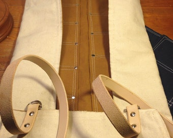 Large heavy duty canvas tool roll