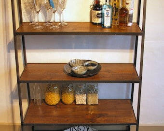 Large Industrial Style Ladder Shelving Unit