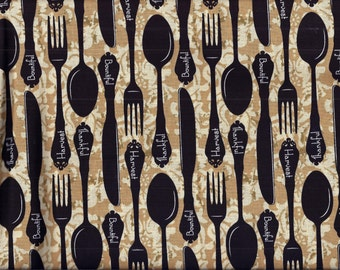 Bountiful Harvest Silverware Curtain Valance