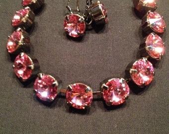 Swarovski bracelet/earrings