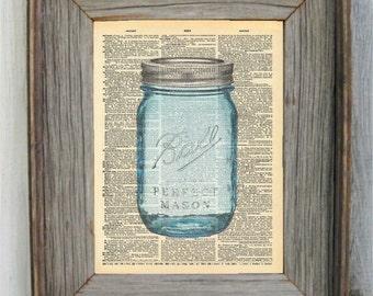 Mason Jar Dictionary Art Print. Available in: 8 x 10, 6 x 9 & 5 x 7