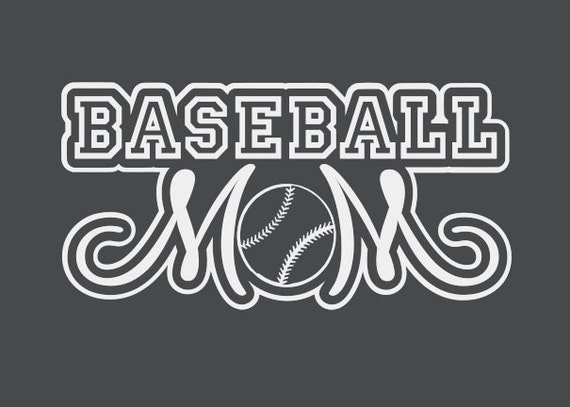 Baseball Mom Window Decal In Multiple Sizes By