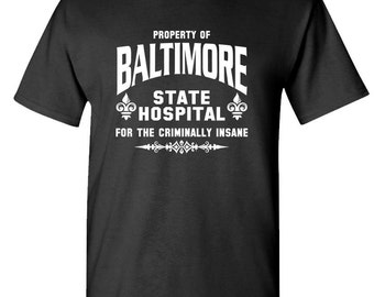 Baltimore State Hospital t-shirt tee Long or Short sleeve