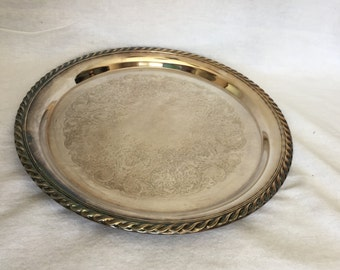 Silver Plate Tray Labeled *WM ROGERS* ~ Home Decor, Dinning, Wall Decor. Many uses many functions!