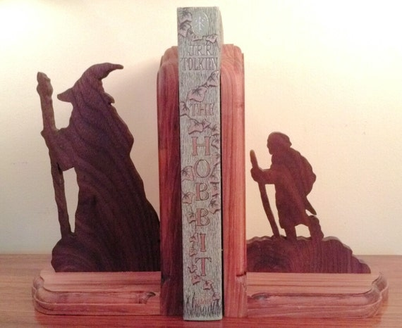 Wooden star wars and lord of the rings by shirewoodworking on etsy - Lord of the rings bookends ...