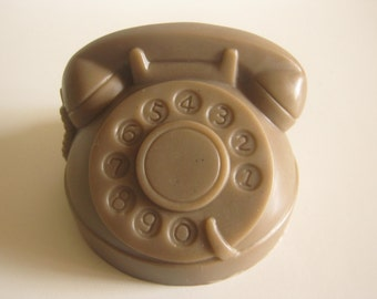 homemade scented glycerin soap, miniature, telephone