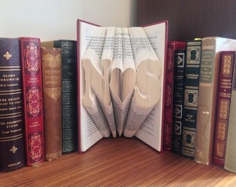 Initial, Heart, Initial Folded Book Art