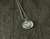 Handcrafted chicken pendant fine silver necklace hen pendant