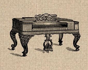 Printable Piano Image Piano Graphics Piano Illustration Piano Images Piano Clipart Digital Sheet 300dpi HQ