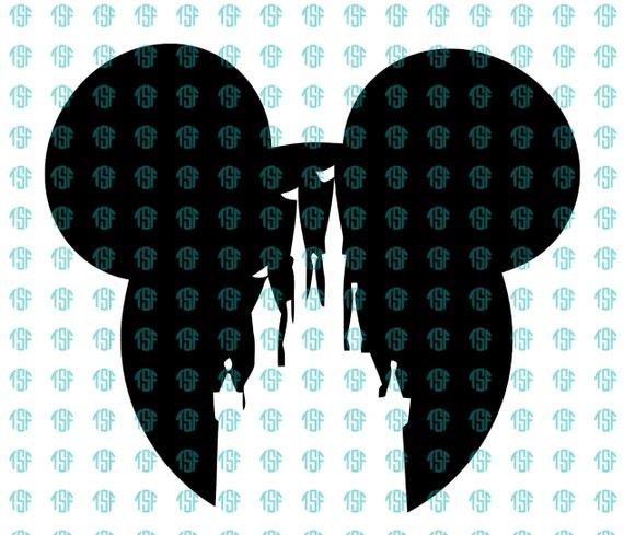 Mickey Head Castle Decal