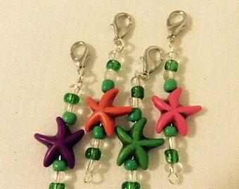 Starfish Crochet Stitch Markers- Set of 4*sale*