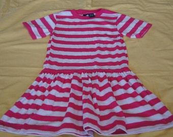 Vintage 1980's - Lands End Kids Dress in Pink