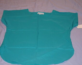 Vintage 1980's - Jessica Michelle Midriff Crop Top in Teal