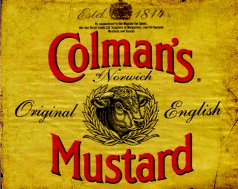 Colmans Mustard English Vintage Advertising Enamel Metal TIN SIGN Wall Plaque