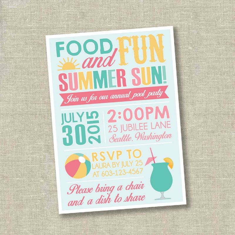 Cookout invitation – Graduation Cookout Invitations