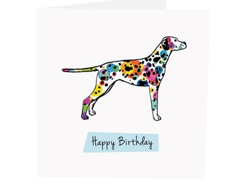 Dalmatian - Happy Birthday Greeting Card - Hand Illustrated - Watercolour - Sophia Fox