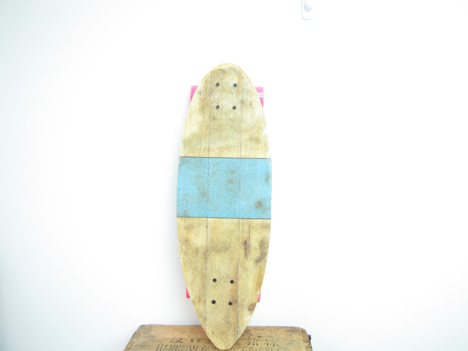 recycled pallet wood longboard skateboard handmade with
