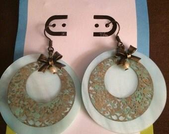 1980's Turquoise Treasure Earrings