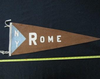 Vintage Felt Pennant - Rome, New York
