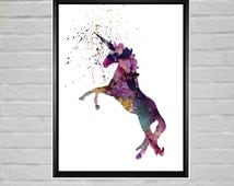 Nursery Art Unicorn Prints Nursery Decor Unicorn Printable Unicorn Instant Unicorn Downloads Unicorn Downloadable Files Unicorn silhouette