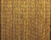 "BBC-36, Bamboo Beaded Curtain, handcrafted with plain natural bamboo beads, 36""W x 78""H"