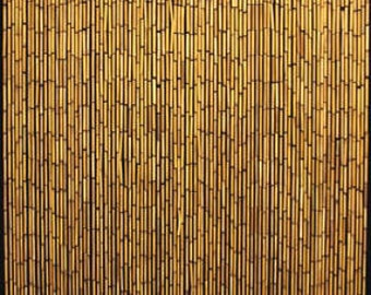 Attractive BBC 36, Bamboo Beaded Curtain, Handcrafted With Plain Natural Bamboo Beads,  36