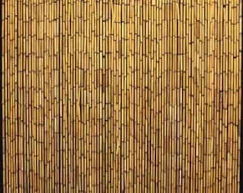 """BBC-36, Bamboo Beaded Curtain, handcrafted with plain natural bamboo beads, 36""""W x 78""""H"""
