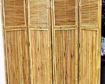 "Bamboo Screen, 4 Panel Self Standing Screens, 72""W x 72""H, BSC-88"