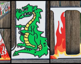 "Wooden letters for kids bedrooms ""dragons"""