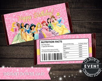 Disney Princess Candy Bar Wrapper