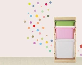 Polka Dot Wall Decal, Colourful polka dot wall, Wall Stickers Baby Nursery Decor,Cute colours Baby Nursery Decor