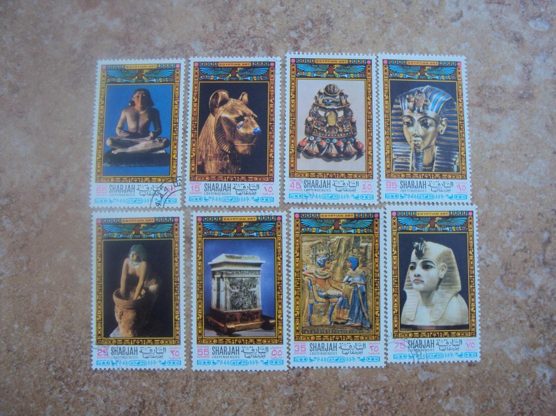 8 Sharjah A Complete Set Egyptian Art By Joysadvintageplus