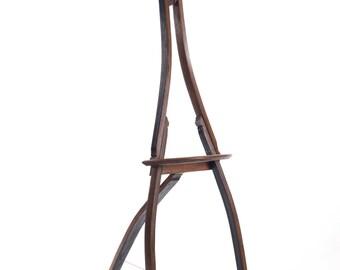 Display Easel - Repurposed wine Barrel