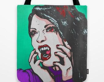 Vamp pop Tote bag