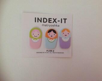 Matryoshka post it note - russian doll stickers -