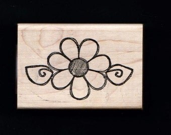 O'Scrap Rubber Mounted Stamp ~ DAISY